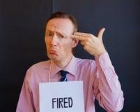 fired man Στοκ εικόνες με δικαίωμα ελεύθερης χρήσης