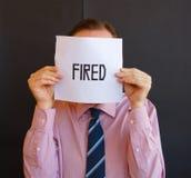 fired man Στοκ Εικόνες