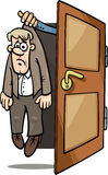 Fired man cartoon illustration. Cartoon Concept Illustration of Unhappy Fired or Dismissed Man Stock Image