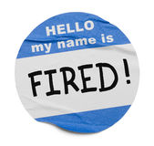 Fired Name Tag royalty free stock image