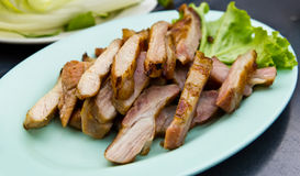 Fired neck of pork Royalty Free Stock Photography