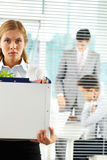 Fired office worker royalty free stock images
