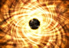 The black hole and its readiation circles vector illustration