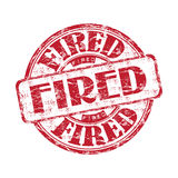 Fired red grunge rubber stamp Royalty Free Stock Image