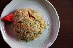 Fired rice chahan , japanese fried rice stock photo