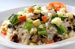 Fired rice vegetable Stock Photo