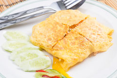 Fired Rice With Bacon Wrap Eggs Royalty Free Stock Photography
