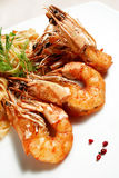 Fired shrimp Royalty Free Stock Images
