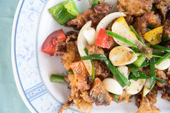 Fired Soft-Shell Crab Black Pepper Royalty Free Stock Photos