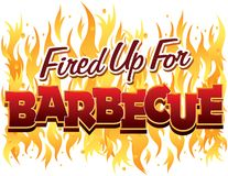 Fired Up For Barbecue Royalty Free Stock Images