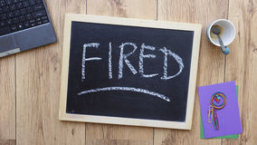 Fired written Royalty Free Stock Image