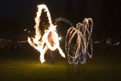 Firedancers Immagine Stock