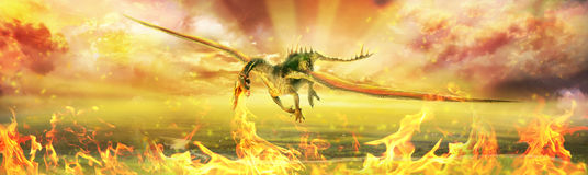 Firedrake Royalty Free Stock Photography