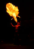 Fireeater. Men fireeater fakir fire circus flame one stock photos