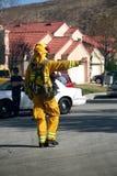 Firefghters en vrachtwagen Stock Fotografie
