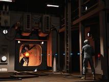 Firefight di Scifi Fotografia Stock