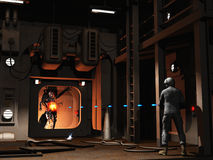 Firefight do Scifi Foto de Stock