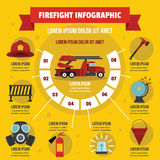 Firefight infographic concept, flat style Stock Photos