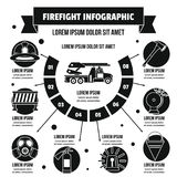 Firefight infographic concept, simple style Royalty Free Stock Photography