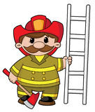 Firefighter. Illustration of a firefighter with the equipment Stock Image