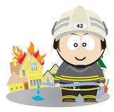 Firefighter Royalty Free Stock Photo