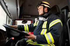 Firefighter. Picture from a young and successful firefighter at work Royalty Free Stock Images
