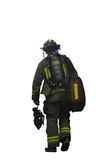 Firefighter. After work on white background Stock Photography