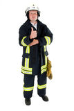 Firefighter. A german firefighter in his uniform Stock Photo
