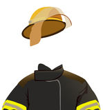 Firefighter. Illustration of a firemans uniform - invisible man series Royalty Free Stock Photos