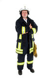 Firefighter. A german firefighter in his uniform Royalty Free Stock Photo