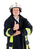 Firefighter. A german firefighter in his uniform Stock Photos