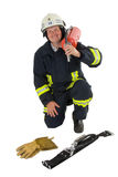 Firefighter. A german firefighter in his uniform Stock Photography