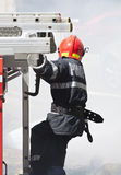 Firefighter in action Royalty Free Stock Photography