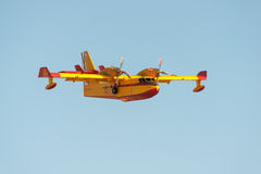 Firefighter aeroplane Stock Photography