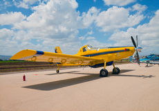 Firefighter aircraft on the air field Stock Image