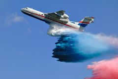 Firefighter airplane Royalty Free Stock Image