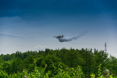 Firefighter airplane, canadair Stock Images