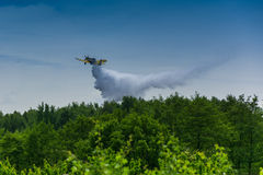 Firefighter airplane, canadair Royalty Free Stock Photography