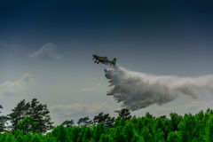Firefighter airplane, canadair Royalty Free Stock Images