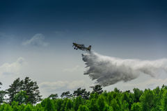 Firefighter airplane, canadair Stock Photo
