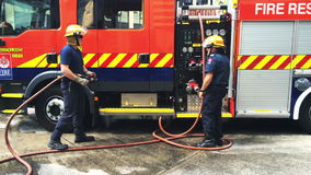 Firefighter in Auckland City Fire Station in Auckland New Zealand stock video