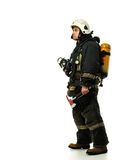 Firefighter with axe Royalty Free Stock Image