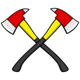 Firefighter Axes. A vector illustration of Firefighter Axes Royalty Free Stock Photo