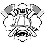 Firefighter Badge Illustration. A vector illustration of a Firefighter Badge Royalty Free Stock Image