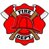 Firefighter Badge. A vector illustration of a Firefighter Badge Royalty Free Stock Image