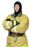 Firefighter in balaclava Royalty Free Stock Images