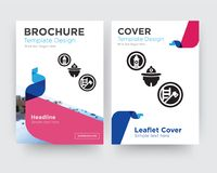 Firefighter brochure flyer design template. With abstract photo background, minimalist trend business corporate roll up or annual report Stock Image