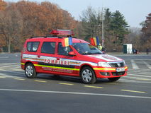 Firefighter car Royalty Free Stock Photo