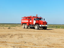 Firefighter car. Royalty Free Stock Image