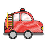 Firefighter car drawing icon Stock Photos